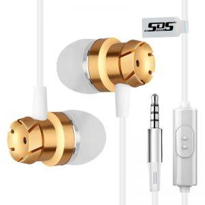 SOS 1 Noise Cancelling Earphones White & Gold